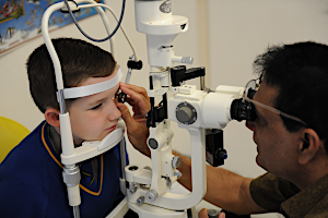 An ophthalmology appointment