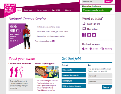 Link to National Careers Service website