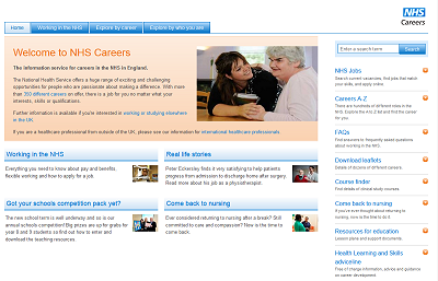 Link to NHS Careers website