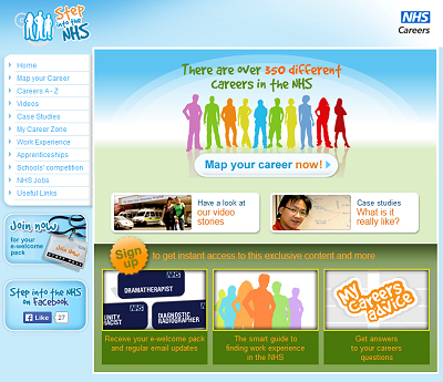 Link to Step into the NHS website