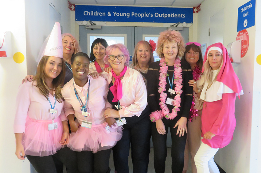 Paediatric team go pink