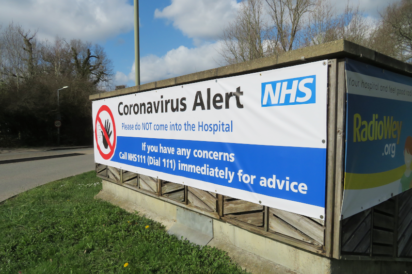 Sign at the front of St Peter's Hospital